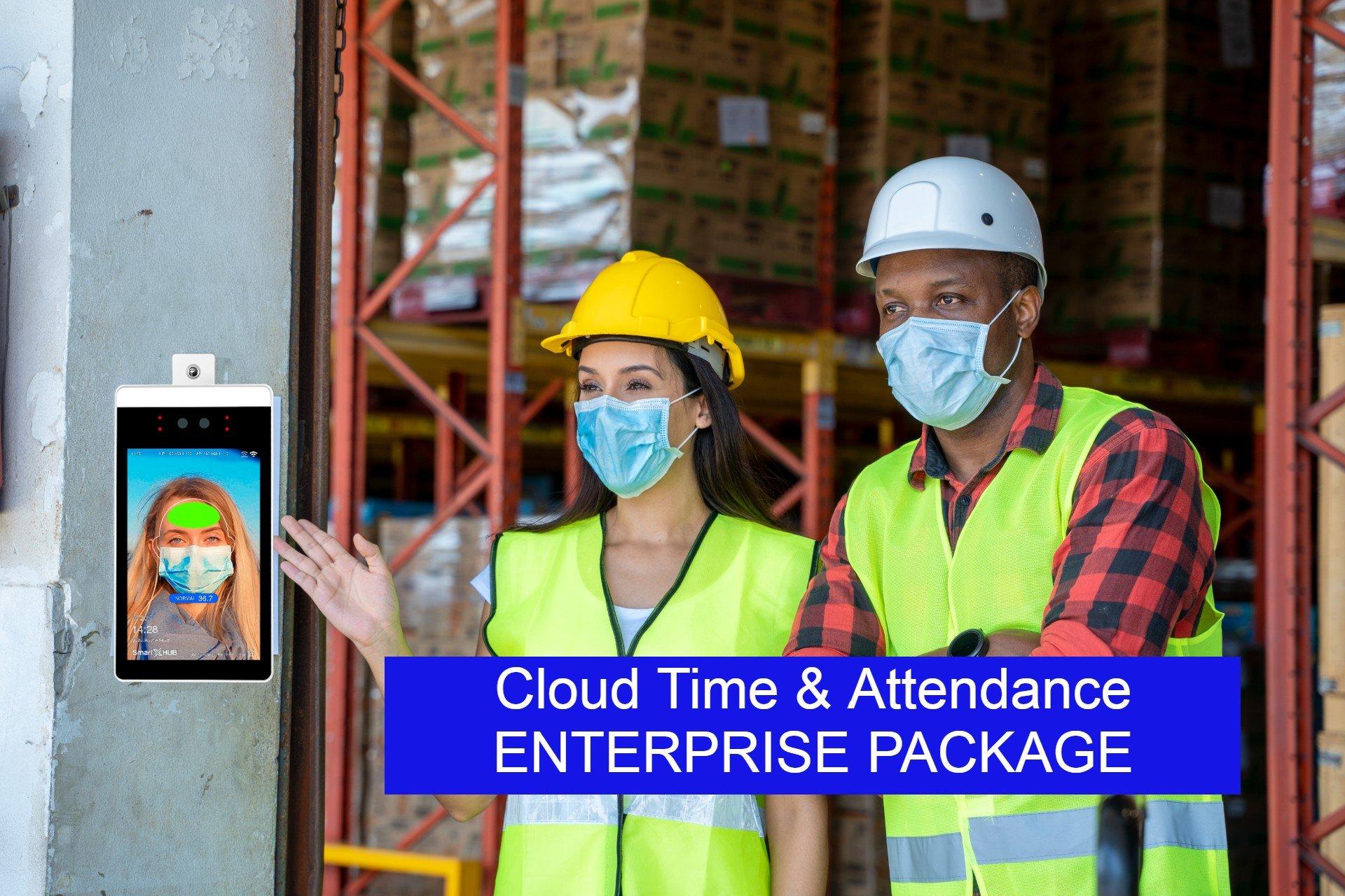 Reconhecimento facial e medição de temperatura no acesso às empresas
